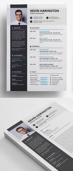 Freebie: Professional Resume + Coverletter Template #freebies #photoshop #psdfiles #illustrated #sketch #resumetemplate #businesscard #psdtemplate #graphicdesign