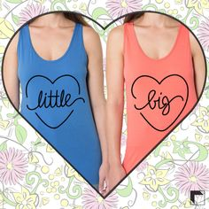 Little Sis Tank + Big Sis Tank are available for individual purchase in the new ABD retail shop: remyandolive.adamblockdesign.com | Buy one for yourself or your sorority sisters today - no minimums | Custom Greek Apparel & Sorority Clothes