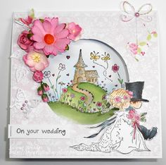 LOTV - Summer Church and Wedding Couple with Romance and Roses Paper Pad by Jayne Rhodes