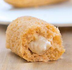 Twinkies saludables con relleno de crema sana