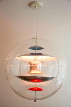 Verner Panton Globe - All For Decoration Interior Lighting, Home Lighting, Modern Lighting, Lighting Design, Iron Chandeliers, Modern Chandelier, Verner Panton Lamp, Home Interior, Interior Decorating