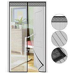 Kellert/ür Und Terrassent/ür Der Magnetvorhang ist Ideal f/ür die Balkont/ür Apalus Magnet Fliegengitter T/ür Insektenschutz 80x200cm Kinderleichte Klebemontage Ohne Bohren Nicht K/ürzbar