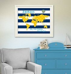 MuralMax  Personalized Dr Seuss Map  Oh  The Places Youll Go  Unframed Print Size 11 x 14 >>> You can find more details by visiting the image link.