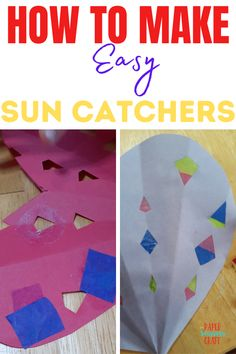 How to make easy and fun sun catchers with 3 supplies you have on hand, you can pull them out real quick and make them with your kids, easy crafts for kids that are cheap and fun, toddler activities, kids activities, toddler crafts, paper crafts, crafts for kids, cheap crafts for kids, easy crafts for kids Valentines Day Holiday, Valentines Day Hearts, Love Valentines, Valentine Crafts, Holiday Crafts, Easy Toddler Crafts, Quick Crafts, Toddler Activities, Kids Crafts