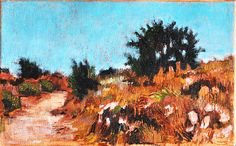 San Diego, California Landscape Painting- Morning Path on Etsy, $160.00