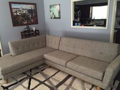 Joybird Hughes Sectional with Bumper (2 piece) from Patrick M.