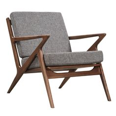 The Zain Chair, inspired by the famous Z design, features a zig-zag of linear angled wood, which creates a durable and solid frame. Both the seat and the back cushions are made with medium density foa