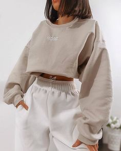 missy empire Scarlet Beige Mood Slogan Oversized Sweatshirt Source by heyther.-- missy empire Scarlet Beige Mood Slogan Oversized Sweatshirt Source by heythereitslilah ideas for teens Cute Lazy Outfits, Chill Outfits, Sporty Outfits, Mode Outfits, Retro Outfits, Stylish Outfits, Athleisure Outfits, Cochella Outfits, Vintage Outfits