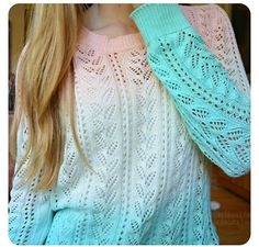 Blue/white/pink sweater