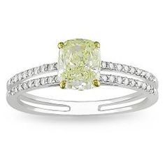 Special Offers Available Click Image Above: Miadora 18k Gold 1 1/5ct Tdw Yellow And White Diamond Ring (g-h, Vs1-vs2)