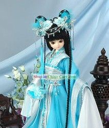 Ancient Chinese Imperial Princess Hair Accessories and Wig Complete Set rental set traditional buy purchase on sale shop supplies supply sets equipemnt equipments Big And Beautiful, Beautiful Dolls, Paper Dolls, Art Dolls, Chinese Dolls, Asian Love, Princess Hairstyles, Princess Costumes, Hanfu