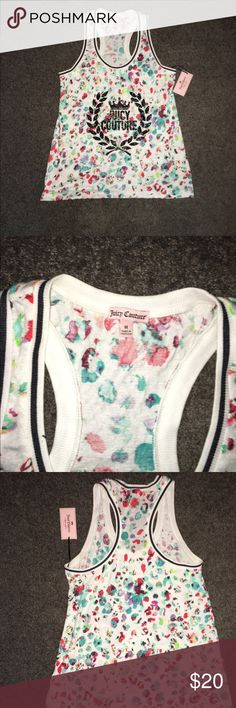 NWT Juicy Couture Tank Brand New•Never Worn! Size Medium• Multi-Color Graphic Design Juicy Couture Tops Tank Tops