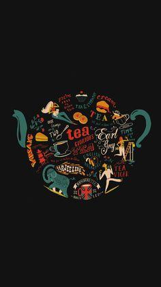 Migyy Tea Art Illust Painting Dark iPhone 6 wallpaper
