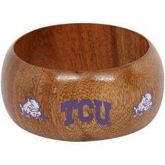 Dayna U TCU Horned Frogs Ladies Wooden Bangle Bracelet