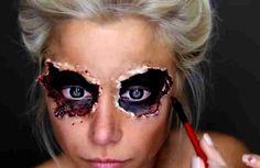 La clase del maquillaje para Halloween. Una imagen impactante