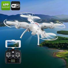 X5SW Quadcopter + Camera - 6 Axis, Remote Control, FPV Cmaeras, iOS + Android APP, FPV