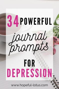 34 Journal Prompts for Depression | Journaling is an amazing tool for mental health and a great addition to therapy. These journal prompts encourage self discovery to aid in healing and recovery from depression! Use these questions daily to improve the quality of your self awareness and wellbeing!