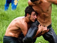 Turkish oil wrestling (Yağlı güreş). Definitely interesting.