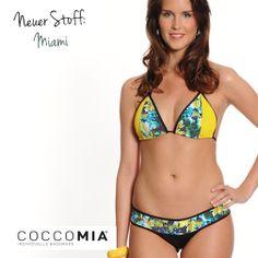 Mit Miami Beach auf dem #Bikini kommt echtes Strandfeeling auf!  Hier findet ihr alle #Designs und #Farben für euren individuellen #Wunschbikini: http://www.coccomia.de/coccomia-prinzip/stoffe-farben.html