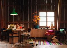 CORE Tisch mit PRESTON Kommode und BOVINO Stühle, FEEL Teppich und LAURIN Stuhl