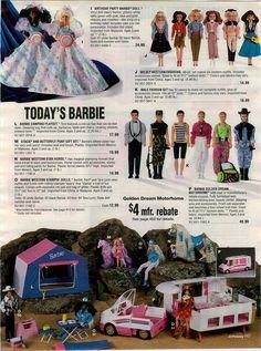 1993 Advertisement 6 PG Barbie Vanity Cafe Gazebo Mermaid Skipper Porsche Shower | eBay