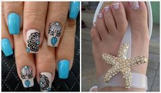 Uñas Decoradas De Los Pies , 30 Diseños Elegantes , Faciles Y Bonitas para este 【2019】y Lo mejor es que puedas hacerlas desde tu casa Pedicure Nail Art, Diy Nails, Diy Nail Designs, Best Makeup Products, Turquoise, Pink, Beauty, Google, Recipes
