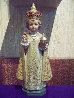 Infant of Prague statue  in  a century old Catholic Church in Opelousas, Louisiana.