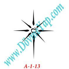 Yıldız Geçici Dövme Şablon Örneği Model No: A-1-13