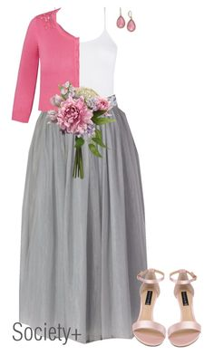 """""""Plus Size Bridesmaid Grey Tutu - Society+"""" by iamsocietyplus ❤ liked on Polyvore featuring City Chic, Steven by Steve Madden, Charter Club, plussize, plussizefashion, societyplus and iamsocietyplus"""