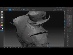 Sculpting armor damage in zBrush - YouTube
