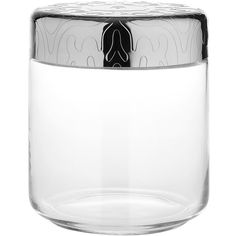 Alessi Dressed - Glass Jar - M ($33) ❤ liked on Polyvore featuring home, kitchen & dining, food storage containers, jar, metallic, alessi, glass jars, coffee jar, glass food storage containers and lidded glass jars