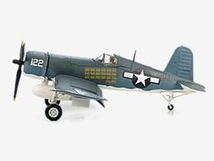 Hobbymaster 1:48 Vought F4U Diecast Model Airplane - HA8207 This Vought F4U 1A Corsair VMF111 Diecast Model Airplane features working propeller. It is made by Hobbymaster and is 1:48 scale (approx. 26cm / 10.2in wingspan). General Background The Vought F4U Corsair was literally built around the Pratt & Whitney 2,000 HP radial engine. The engine was so massive and produced so much energy that a Hamilton Standard 13 feet 4 inch propeller, the largest of WWII, was required. The F4U was the…