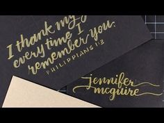 video tutorial ... Writing With Brush Pens (Brush Calligraphy / Lettering) by Christina Werner for card makers ... great intro to brush stroke writing ... YouTube