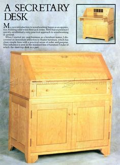 DIY Secretary Desk - Furniture Plans