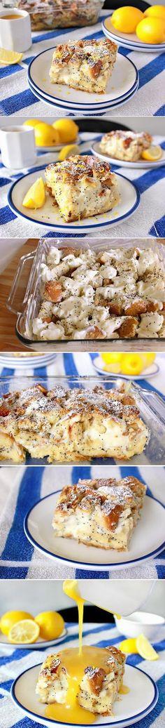 Cream cheese pudding with lemon sauce - Puddingtaart met roomkaas en citroensaus #tdh