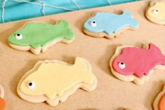 Under the Sea Party: Fishy Fun with Ocean Party Ideas. Dive into the fun with some Under the Sea Party ideas. Be sure to check out all of our Under the Sea Party Inspiration as well as all our Beach Party Ideas. First Birthday Themes, Baby Boy First Birthday, Under The Sea Theme, Under The Sea Party, Happy Bday Cake, Fish Cookies, Sugar Cookies, Gone Fishing Party, Ocean Party