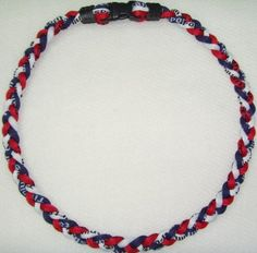 """Tornado Titanium Baseball Necklace Red Blue White 20"""" by Tornado. $3.65. Materials emit energy that is effective in controlling the flow of bio-electric current in ones body. Improves the alignment of ions when this current is stabilized (so called """"Minus Ion Power""""), especially at the body's crucial motor joints. 3-ropes design making it 3 Times more powerful than traditional single rope. Incredibly soft and comfortable. Save 91%!"""