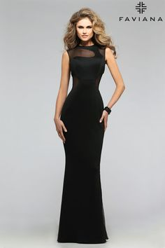 Neoprene with illusion cut outs #Faviana Style 7791 #PromDresses