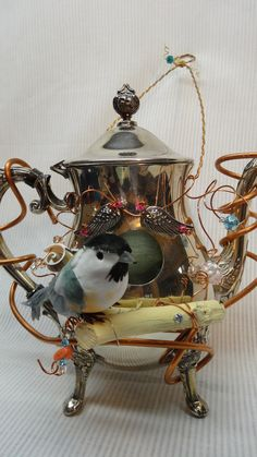 Whimsical Handmade Recycled Silver Plated by DryDockCreations, $60.00