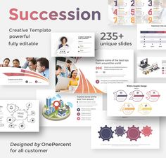 Succession Plan Powerpoint Template by One Percent Studio on Business Brochure, Business Card Logo, Presentation Design Template, Design Templates, Mind Map Design, Infographic Powerpoint, Succession Planning, Broken Images, Creative Powerpoint Templates