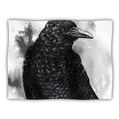 Kess InHouse Sophy Tuttle 'Crow' Black White Pet Blanket, 60 by 50-Inch *** You can find more details by visiting the image link. (This is an affiliate link and I receive a commission for the sales)
