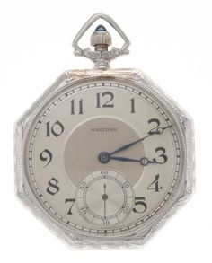 Waltham Gold 17 Jewel Pocket Watch Case: white gold, 12 size, side swing out, vertical engraving and blank - Available at Tuesday Internet Watch and. Old Pocket Watches, Pocket Watch Antique, Pendant Watch, Tic Toc, My Pocket, Watch Case, Blue Moon, White Gold, Clock