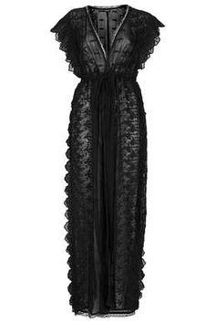 Embroidered Chiffon Robe - Sleepwear - Lingerie & Sleepwear  - Clothing