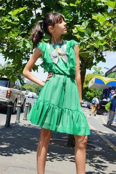 Glamour, Summer Dresses, Street, Casual, Fashion, Green, Moda, Summer Sundresses, Fashion Styles