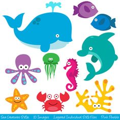 pictures of cartoon underwater sea creatures google search under