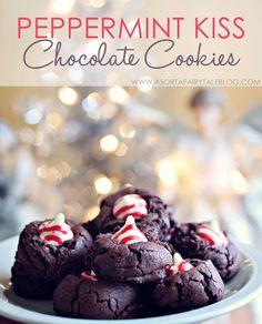 Peppermint Kiss Chocolate Cookies! via A Sorta Fairytale Blog
