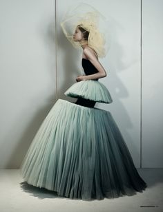 The Amsterdam Chainsaw Massacre | Magdalena Frackowiak by Josh Olins for Dazed & Confused, February 2010 (gown by Viktor & Rolf)