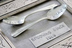 Spooning Since Silverware DIY (5 Unique Five Year Anniversary Gift Ideas).