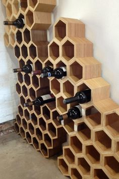 DIY Wine Racks You are in the right place about DIY Wine Rack farmhouse Here we offer you the most beautiful pictures about the DIY Wine Rack built in you are looking for. When you examine the DIY Win Do It Yourself Furniture, Diy Furniture, Bois Diy, Wood Wine Racks, Rack Design, Wine Cabinets, In Vino Veritas, Wine Storage, Diy Wood Projects