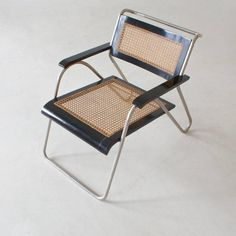 Bauhaus Tubular Steel Armchair by Erich Dieckmann for
